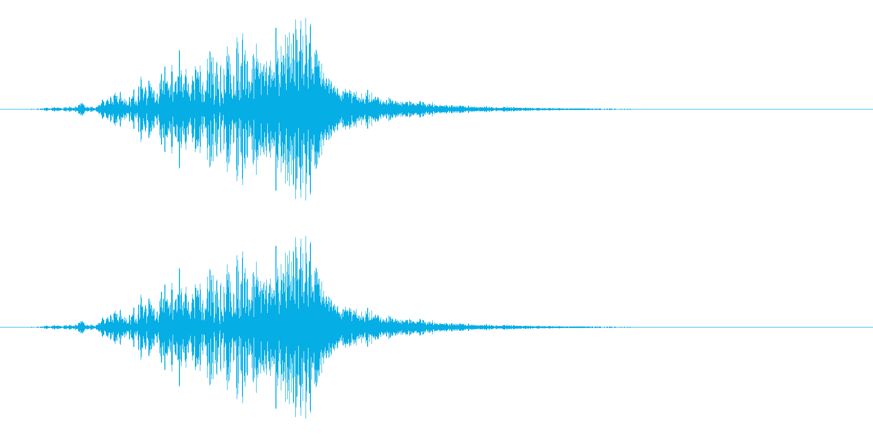 ラティゴ6をシューッという音の再生済みの波形