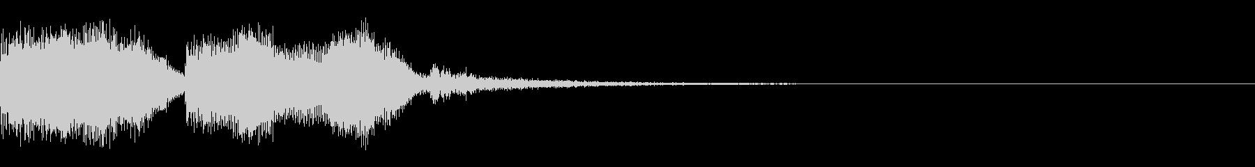 テーレッテレー1/ドッキリにの未再生の波形