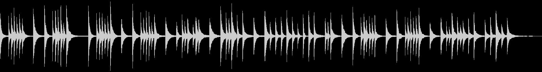 ちょっと寂しい感じのピアノソロの未再生の波形