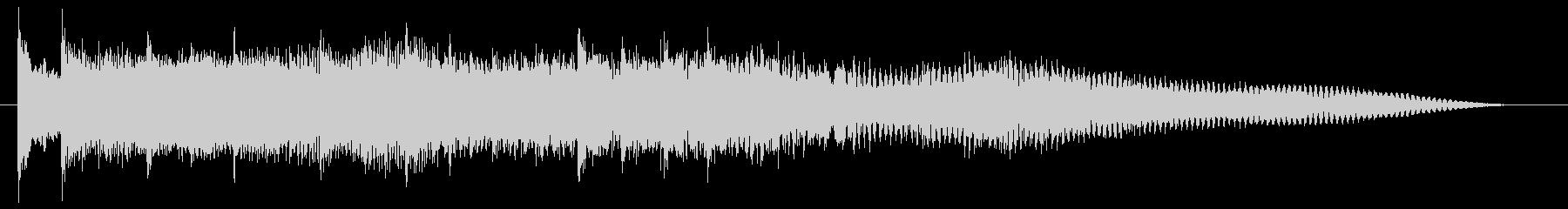 軽快で可愛らしい音が印象的なサウンドロゴの未再生の波形