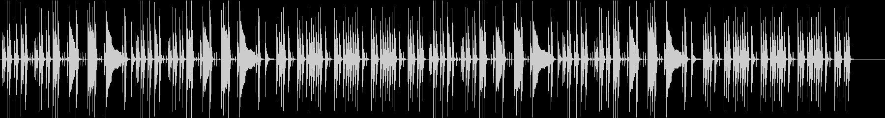 日常系のおちついた劇判の未再生の波形