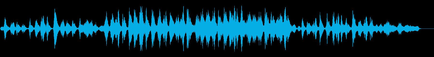 無伴奏チェロを生演奏でグリーンスリーヴスの再生済みの波形