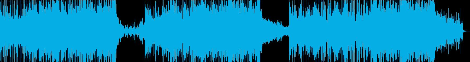 ヘビーなエレクトロロックの再生済みの波形