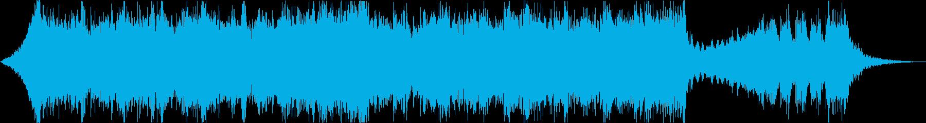 壮大なハリウッド風エピックトレーラーeの再生済みの波形