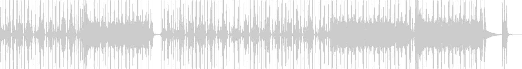 ビートの効いたノリノリファンクの未再生の波形
