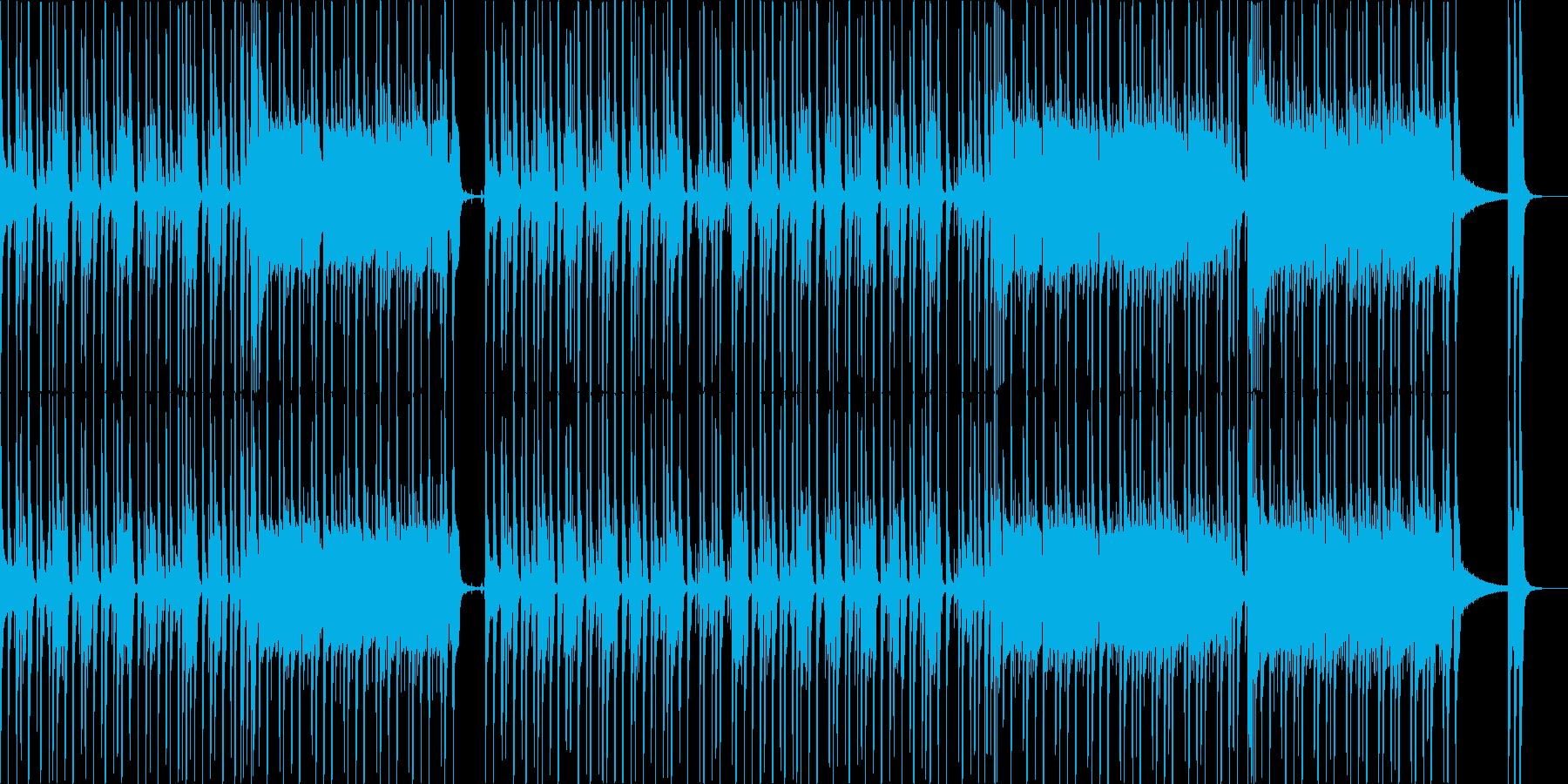 ビートの効いたノリノリファンクの再生済みの波形
