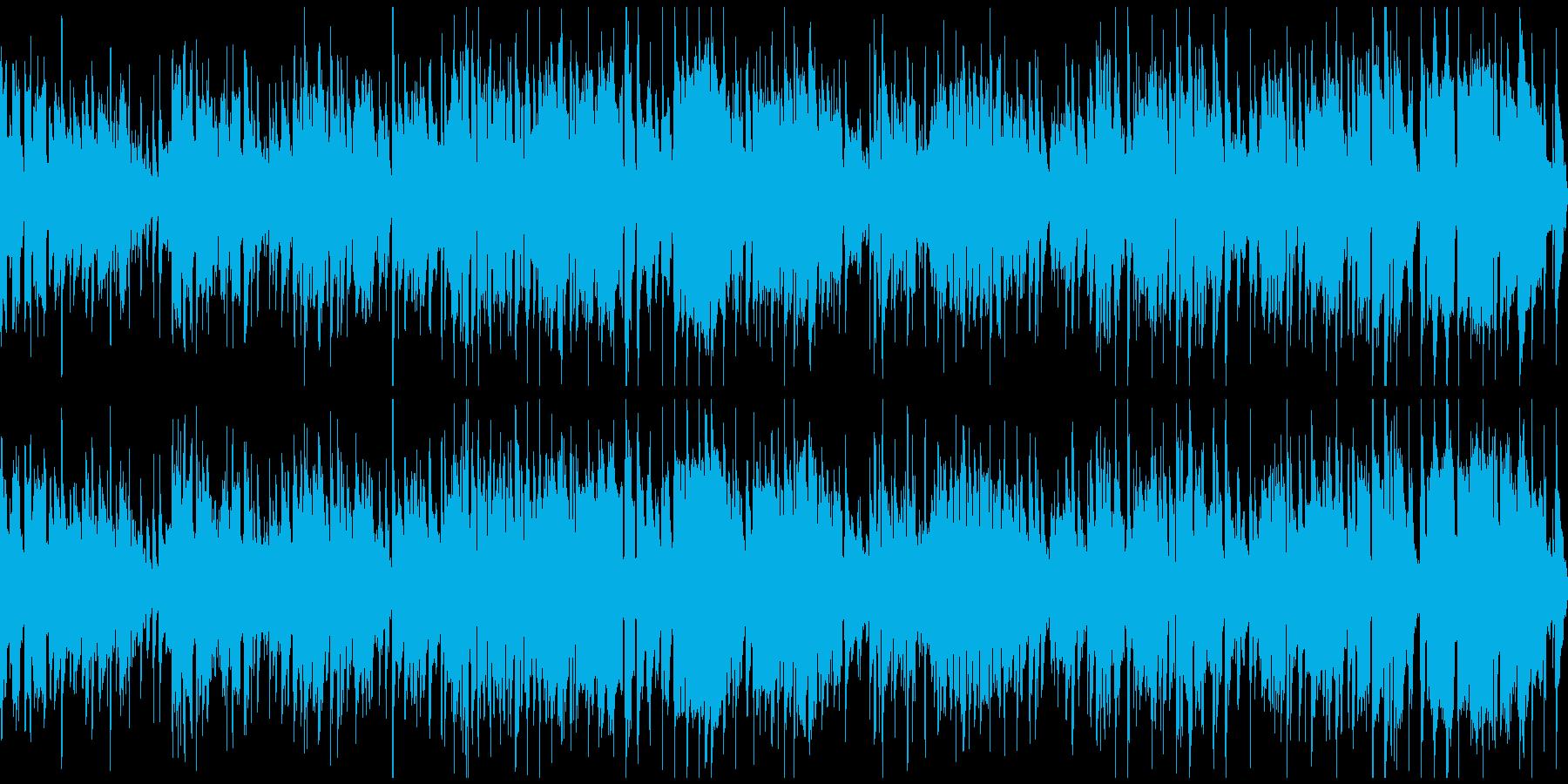 ウキウキするジャズファンク※ループ仕様版の再生済みの波形