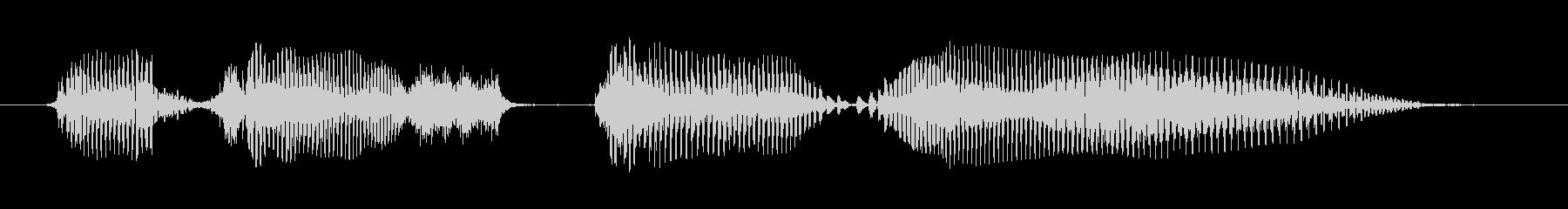 シニア女性A:わからないの未再生の波形