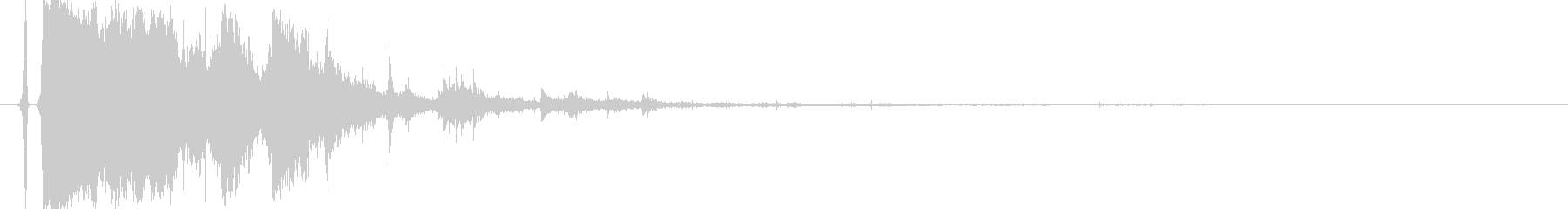 パリン!コップやグラスが割れるリアル音2の未再生の波形