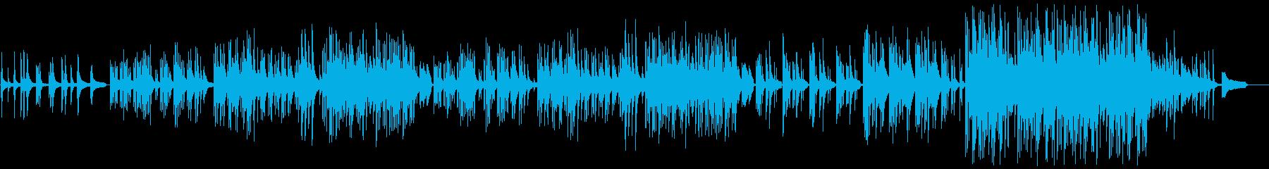 叙情的な和風のピアノソロの再生済みの波形