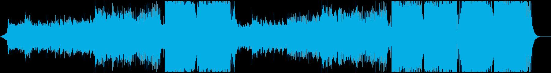 神秘的ででエモーショナルなEDMの再生済みの波形