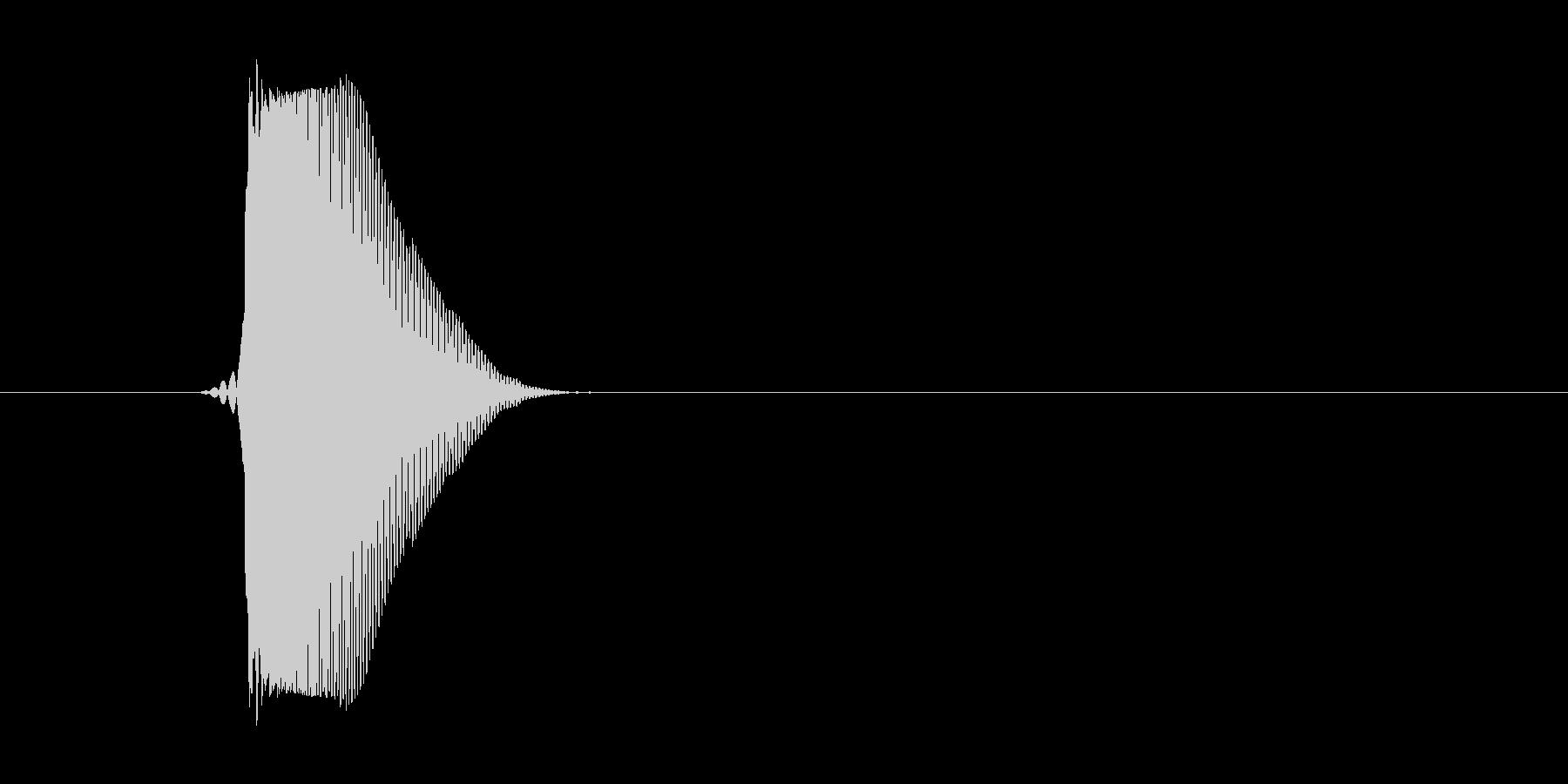 スポンッ(卵などが出た音)の未再生の波形