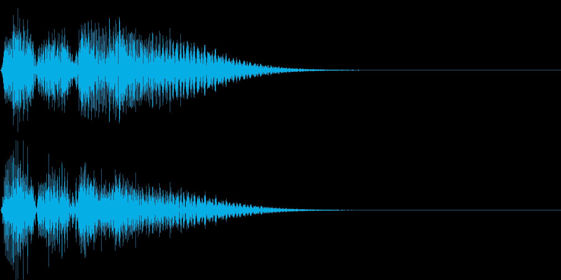 ボタン押下や決定音_ピチョン!の再生済みの波形