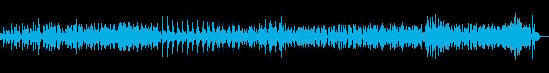 ハープの悲しみに満ちた歌の曲の再生済みの波形