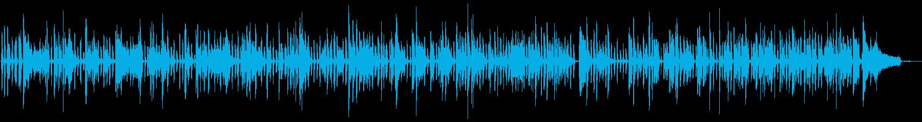 ピアノの陽気なブルースの再生済みの波形