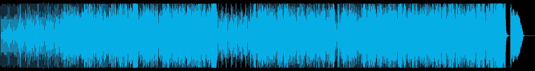 ほのぼの生演奏フルートとテクノ不思議な曲の再生済みの波形
