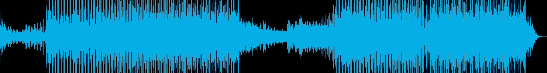 歌詞のトランペットとドラムとベースの再生済みの波形