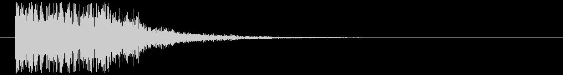 【セレクト音】明るい,キランボタン音の未再生の波形