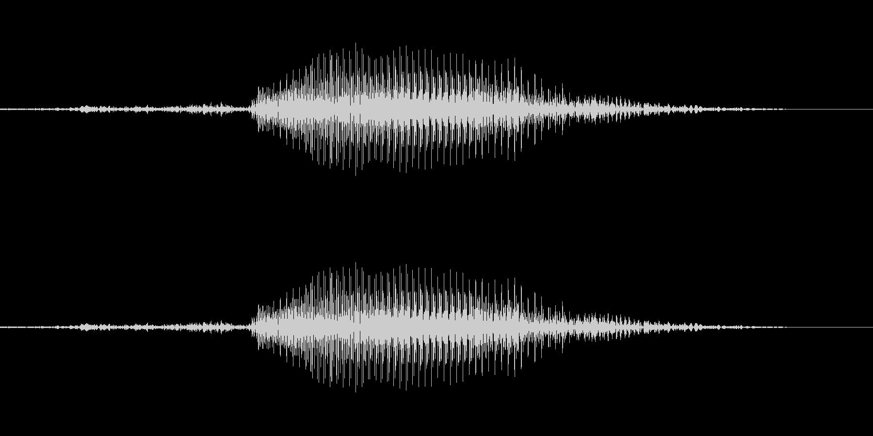 3 (さん)の未再生の波形
