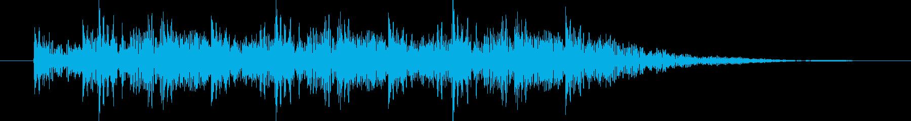 力強くリズミカルな和太鼓の音の再生済みの波形