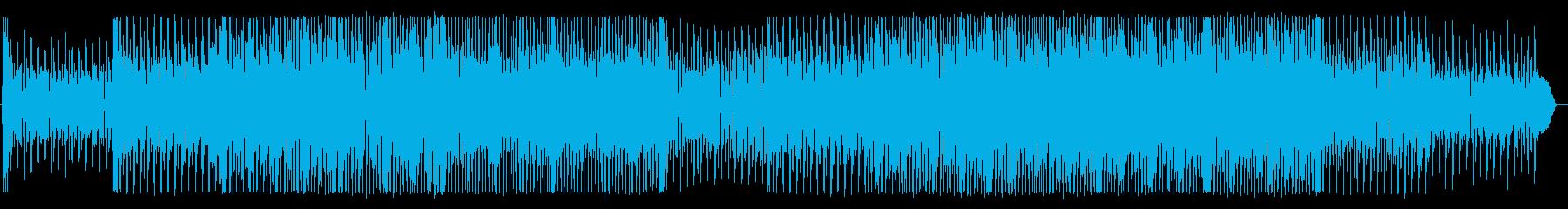 CMにぴったりの明るいロックBGMの再生済みの波形