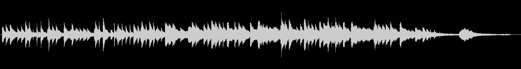 童謡「赤とんぼ」ピアノソロ 60秒の未再生の波形