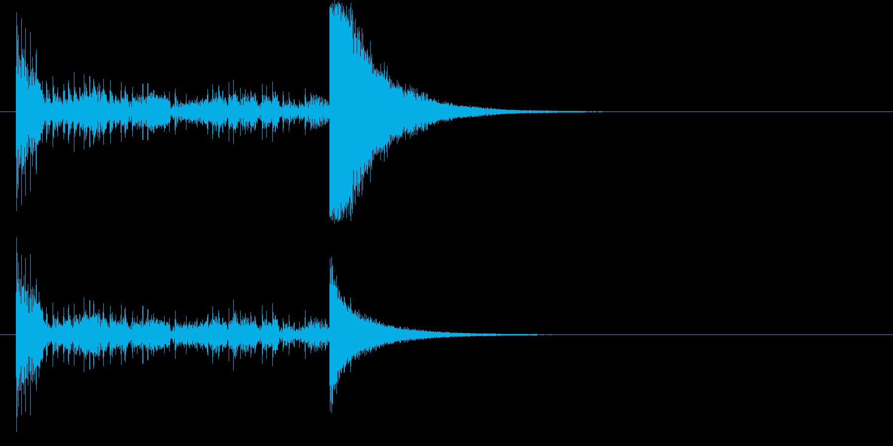 結果発表ドコドコ・ロール5秒シンバル有の再生済みの波形