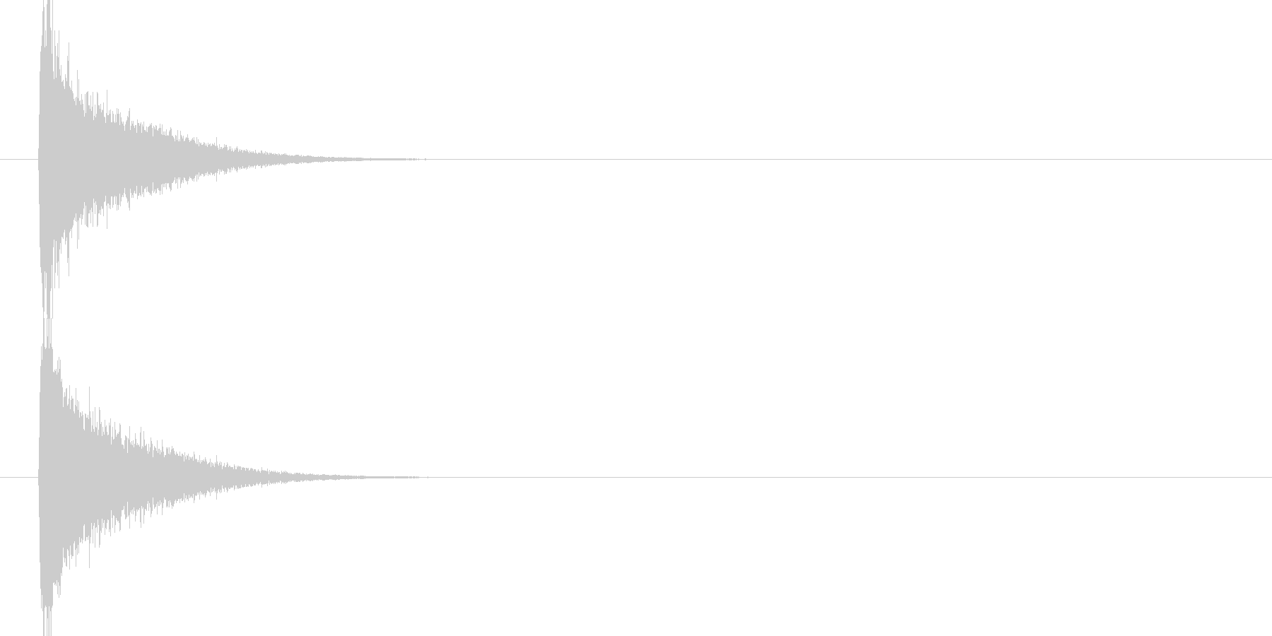 テューンーン(機械が飛び去る音)の未再生の波形