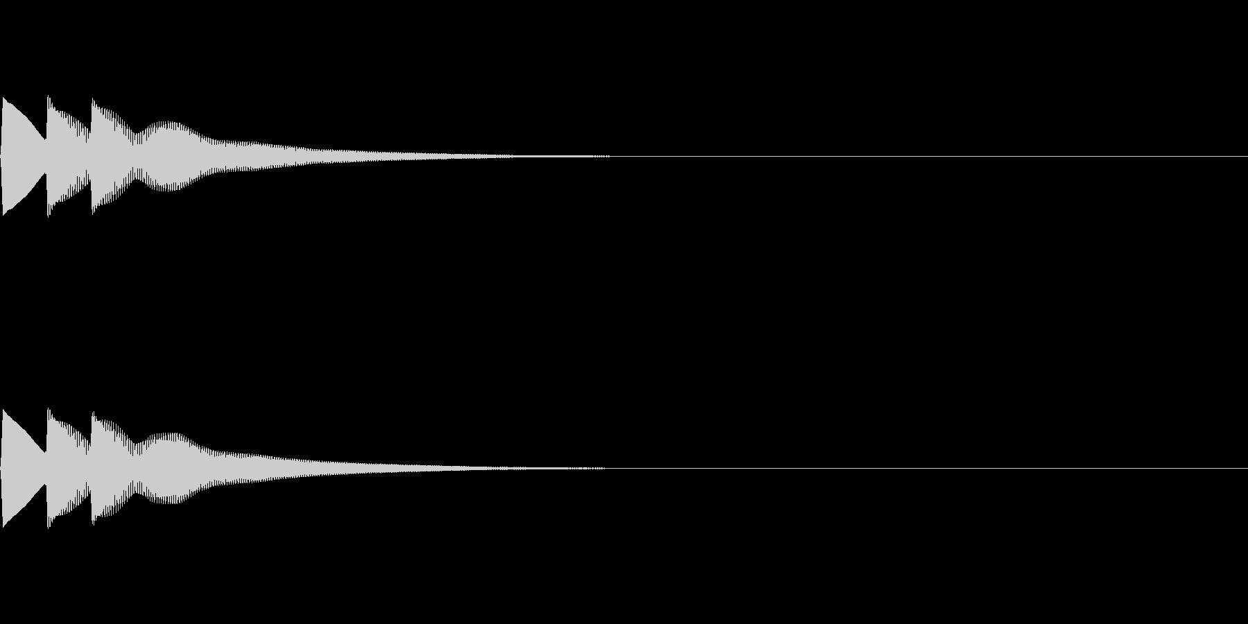 ティロローン(ベル系単発の音)の未再生の波形