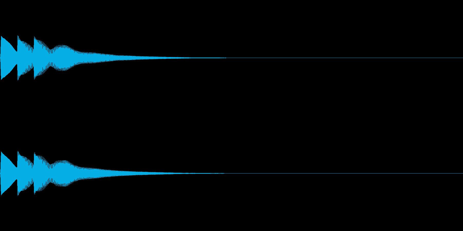 ティロローン(ベル系単発の音)の再生済みの波形