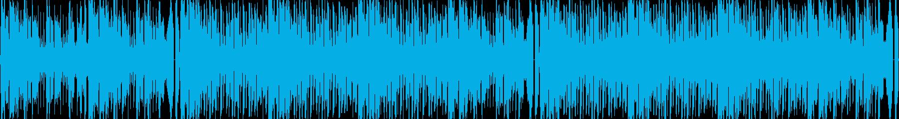 未来感のある煌びやかなループBGMの再生済みの波形