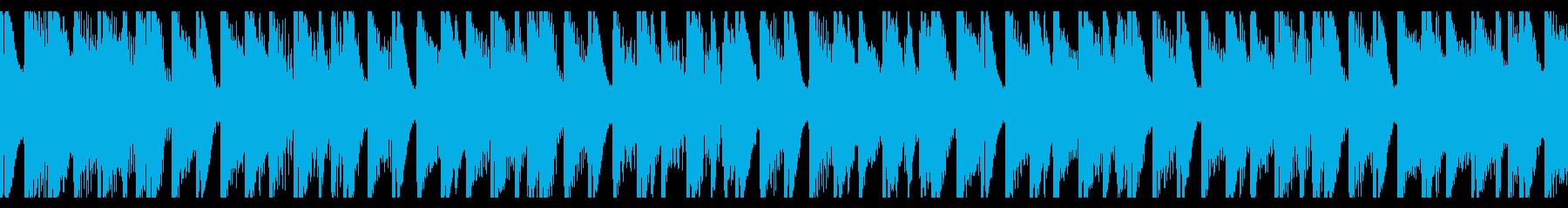 フィットネス(ループ)の再生済みの波形