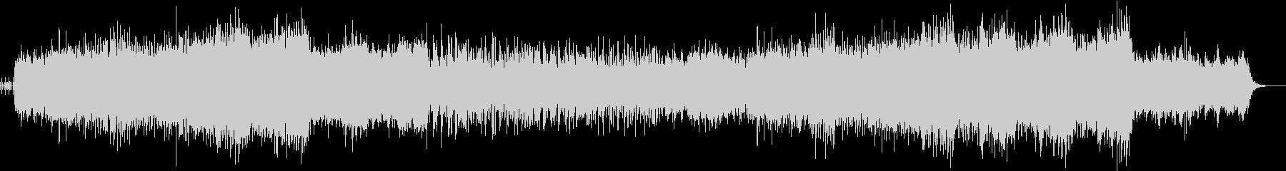 スピーディで高揚感のあるテクノロック音楽の未再生の波形