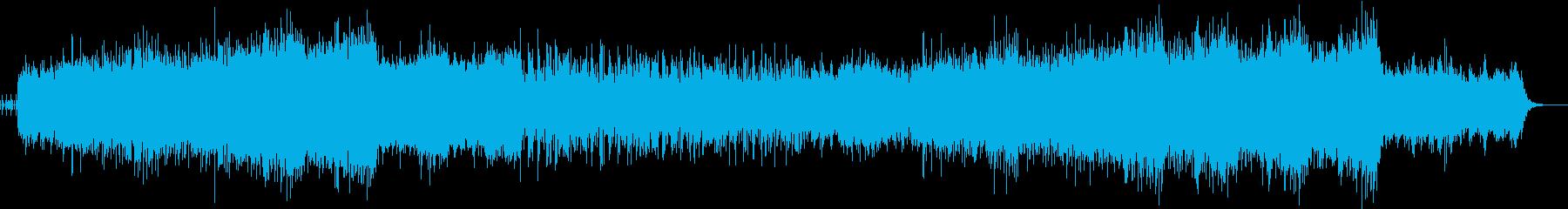 スピーディで高揚感のあるテクノロック音楽の再生済みの波形