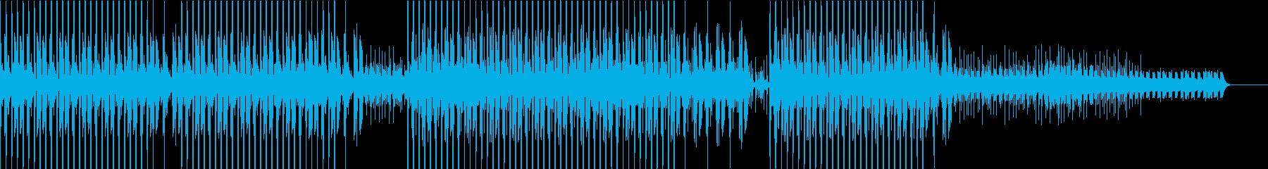 お洒落でゆったりとしたダブテクノの再生済みの波形
