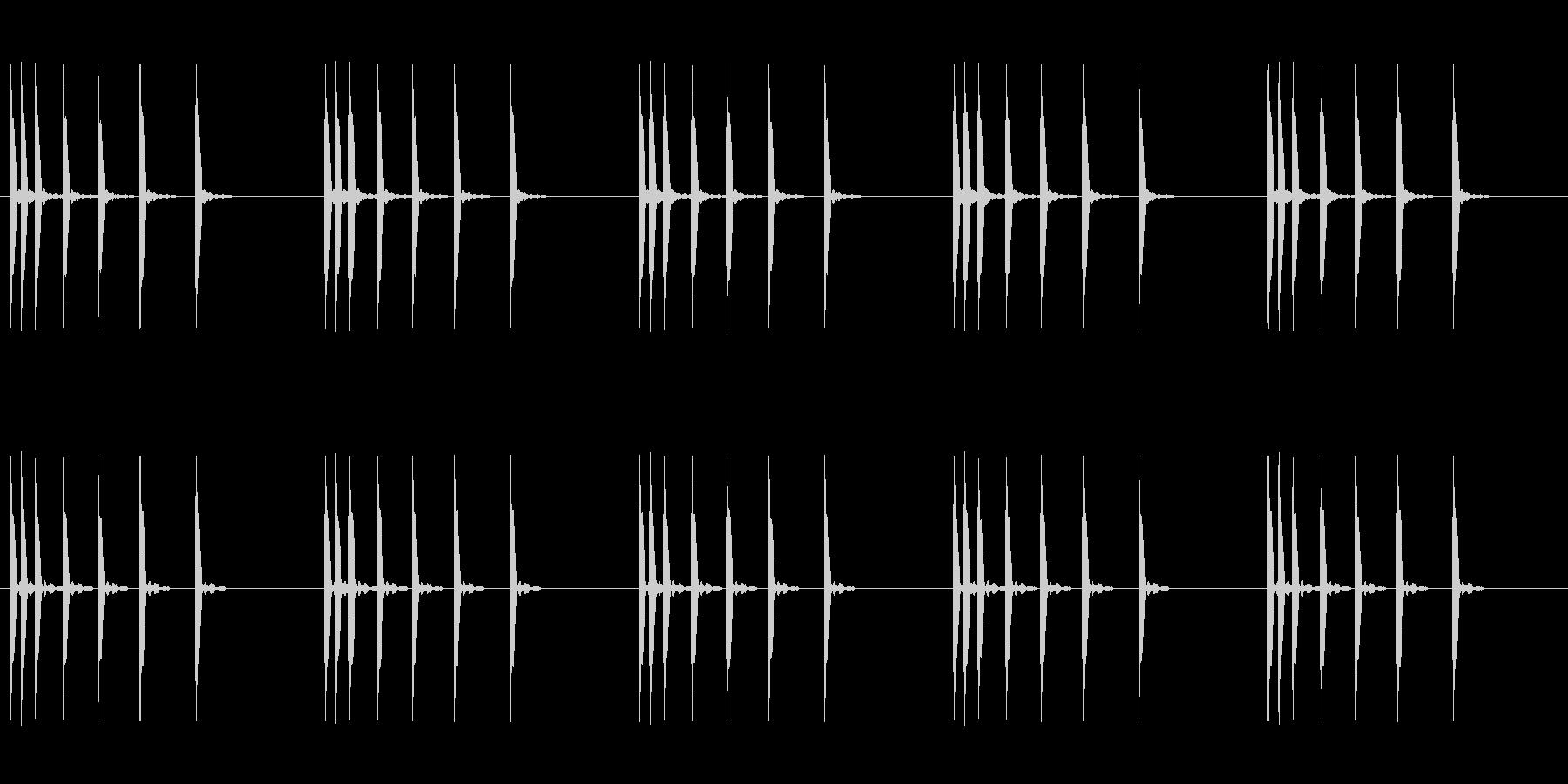 目覚まし時計のアラーム音 電子音の未再生の波形