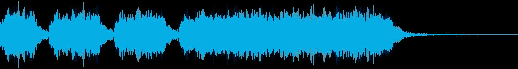 激しいオーケストラのジングルの再生済みの波形