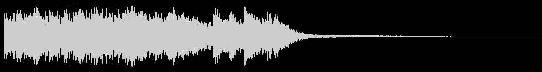 電子音とピアノ音の混ざったジングルです。の未再生の波形