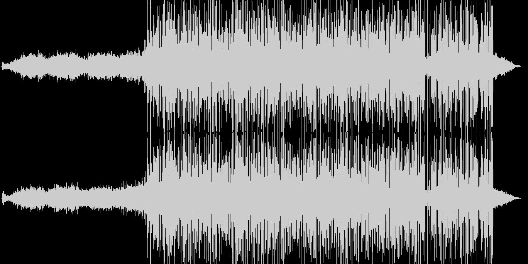 緊迫感のあるエレクトロニカ(ロング版)の未再生の波形