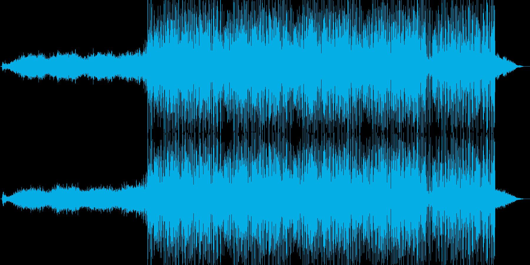 緊迫感のあるエレクトロニカ(ロング版)の再生済みの波形