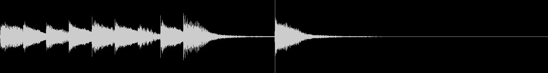 ピアノジングル 幼児向けアニメ系C-02の未再生の波形