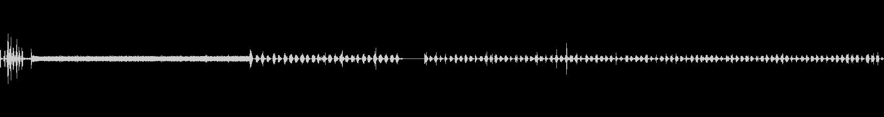 洗濯機作動音の未再生の波形