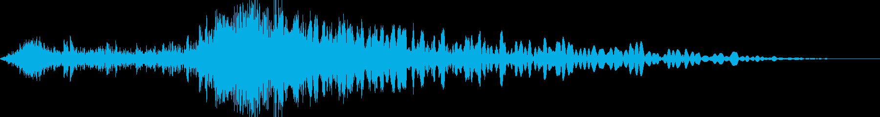 FPS リアル系 大斧 攻撃動作音の再生済みの波形