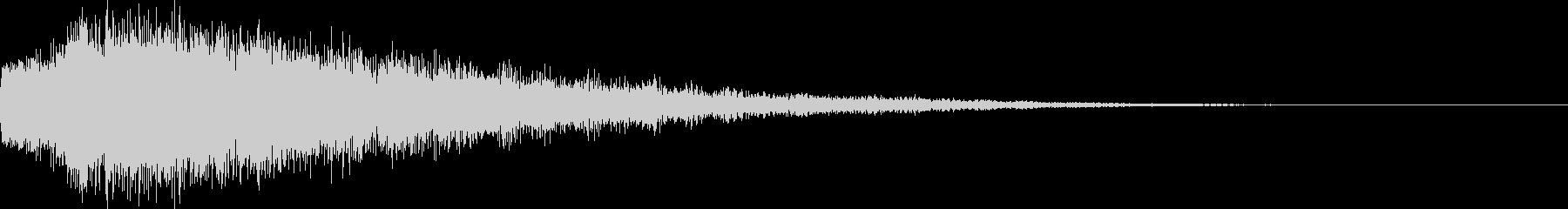 決定、ひらめき等の効果音です ver3の未再生の波形