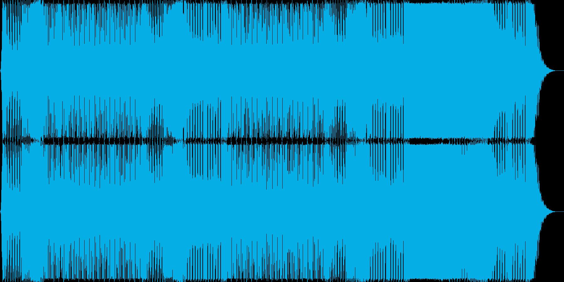 ボスキャラ登場や怒りで能力覚醒系BGMの再生済みの波形