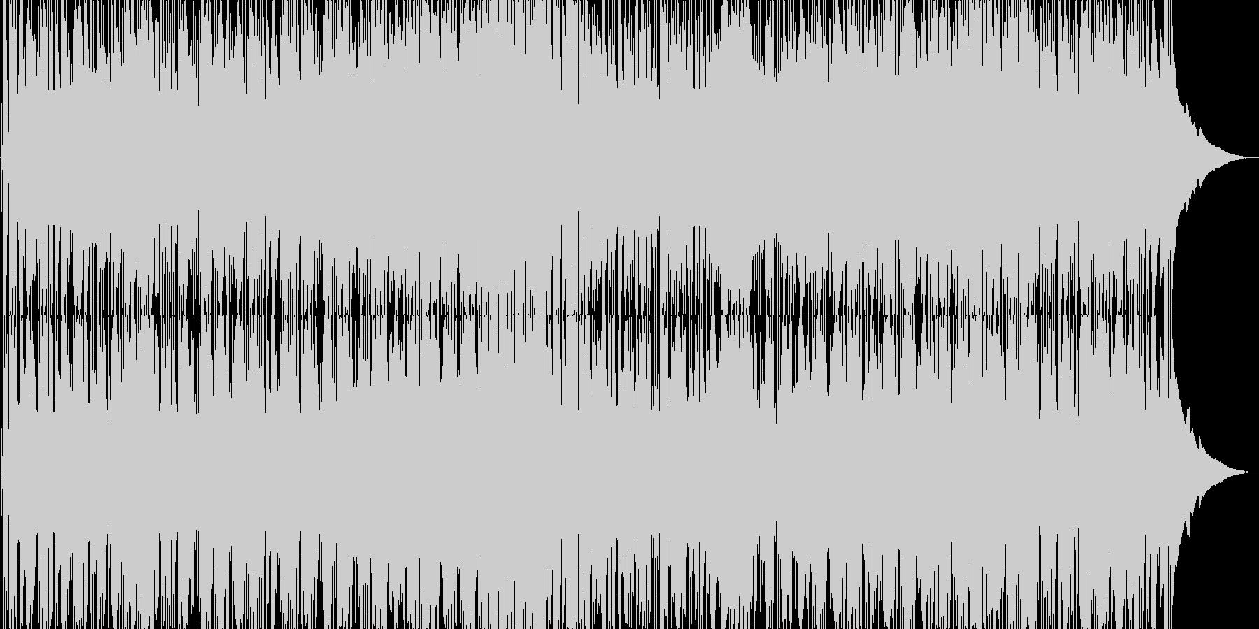 夏の浜辺のイメージのギターシンセポップスの未再生の波形