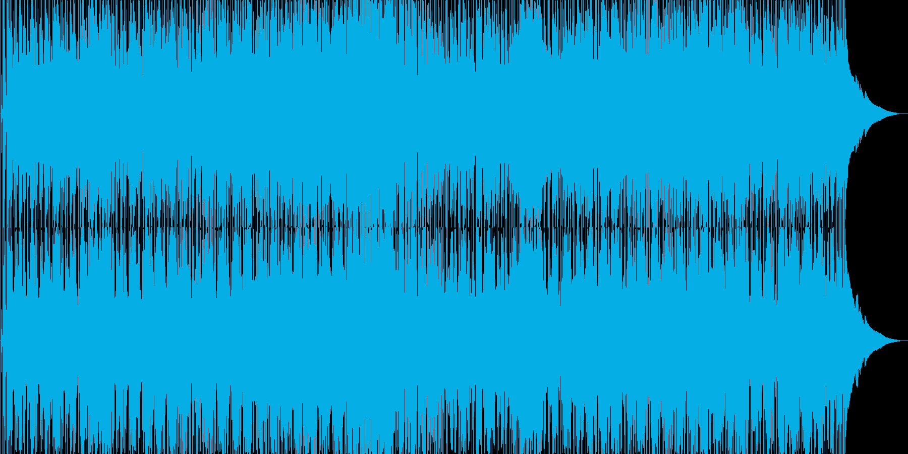 夏の浜辺のイメージのギターシンセポップスの再生済みの波形