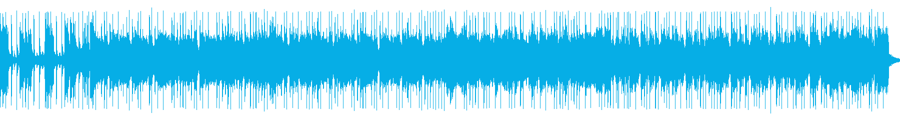 ギターエッジが効いた疾走感あるロックの曲の再生済みの波形