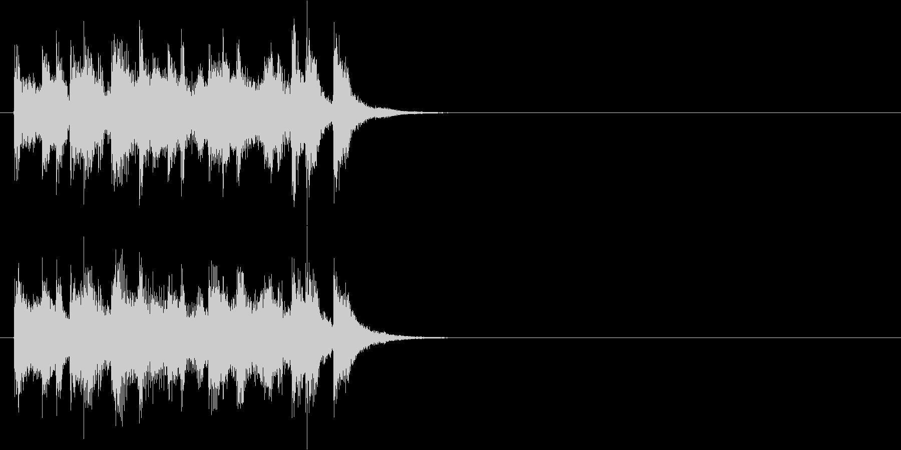 ジングル(ボサノバ調)の未再生の波形