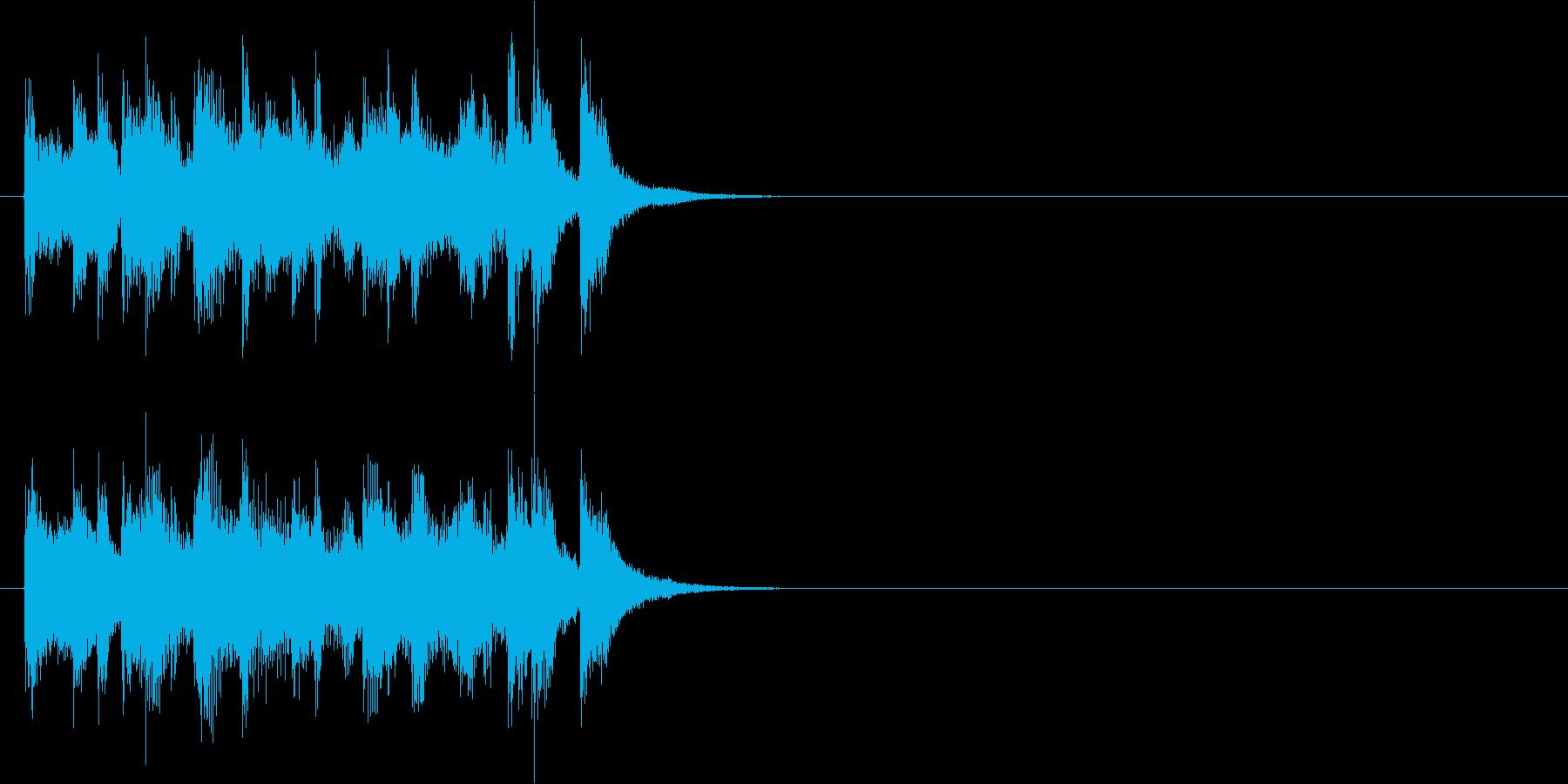 ジングル(ボサノバ調)の再生済みの波形
